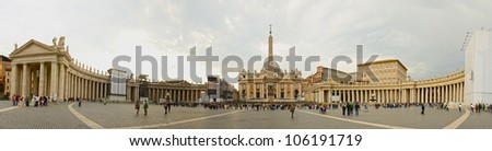 Saint Peter's square in Vatican, Rome - stock photo