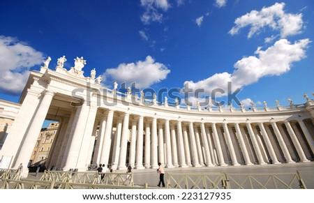 Saint Peter's Square Rome Italy  - stock photo