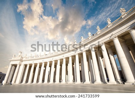 Saint Peter's Square Rome Italy  - stock photo