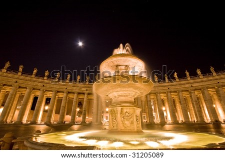 Saint Peter's Square. Rome. Italy.,Vatican - stock photo