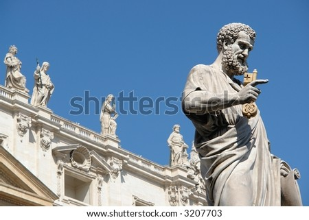 Saint Peter square in Vatican City.