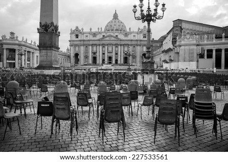 Saint Peters cathedral in Vatican city, Rome, Italy - stock photo