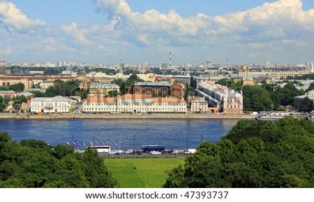 Saint Petersburg, Russia, top panoramic view - stock photo