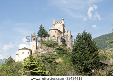 Saint-Pierre (Aosta, Italy) - The castle and church