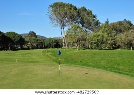 Saint Raphael; France - april 19 2016 : the golf