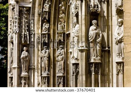 Saint Sauveur Cathedral, Aix-en-Provence, Provence, France - stock photo