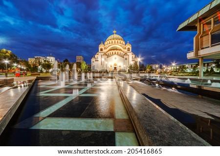 Saint Sava temple, Belgrade Serbia - stock photo