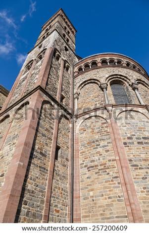 Saint Servatius church at the Vrijthof in Maastricht, Holland - stock photo