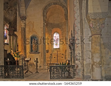 SAINT-SEVER, FRANCE - JULY 26:  Abbey church of Saint-Sever on on July 26, 2005 in Landes department in Aquitaine, south-western France. UNESCO - the Pilgrim's Road to Santiago de Compostela