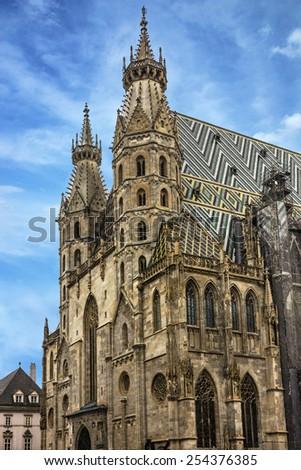 Saint Stephan cathedral church in Vienna, Austria - stock photo