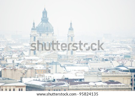Saint Stephen Chatedral at winter, Budapest - stock photo