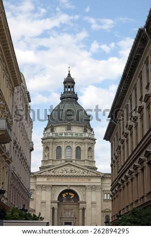 Saint Stephen's Basilica Budapest Hungary - stock photo