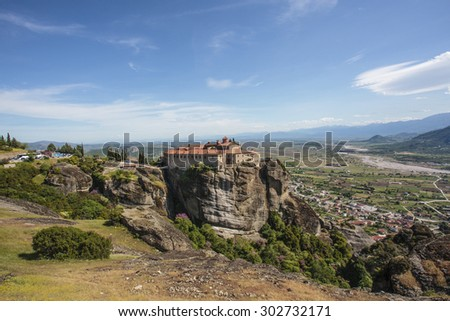Saint Stephen's Monastery (Agios Stefanos) a Greek Orthodox monastery on a rock in Meteora in Greece, Europe