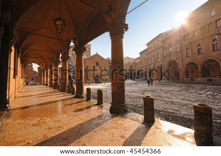 Saint Stephen square, Bologna, Italy - stock photo