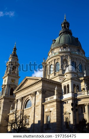 Saint Stephens cathedral in Budapest, Hungary, Europe.