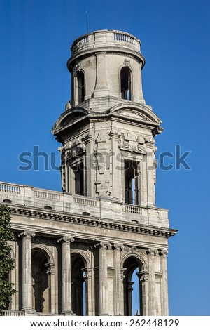 Saint-Sulpice church - Roman Catholic Church in Paris, France, on the east side of the Place Saint-Sulpice in the Luxembourg Quarter.