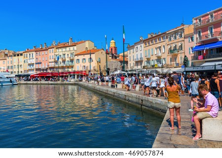 saint tropez france august 03 2016 stock photo 469057874 shutterstock. Black Bedroom Furniture Sets. Home Design Ideas