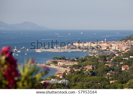 Saint-Tropez, view from the surrounding hills
