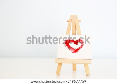 Saint Valentine's greeting card - stock photo