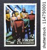 SAINT VINCENT AND THE GRENADINES - CIRCA 1994: A postage stamp printed in Saint Vincent and the Grenadines an island country in the Lesser Antilles chain showing an image of Star Trek, circa 1994. - stock