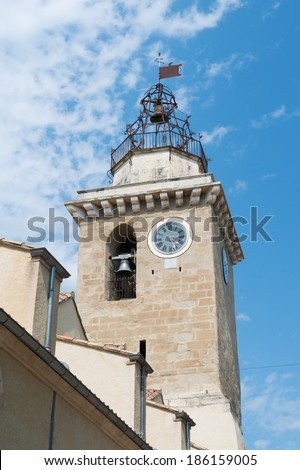 Saint Vincent church in French village Nyons in the Drome - stock photo