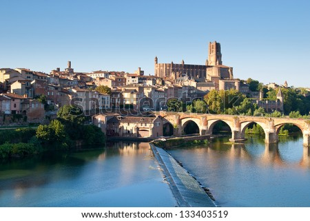 Sainte Cecile Church in the city of Albi, France - stock photo