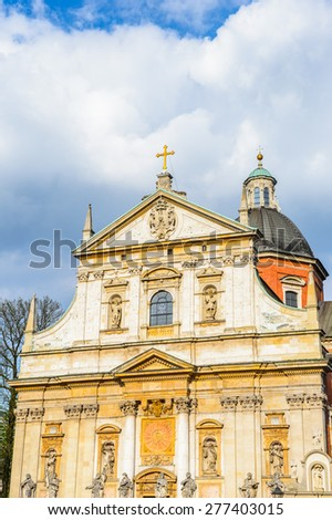 Saints Peter and Paul Church in Krakow, Poland