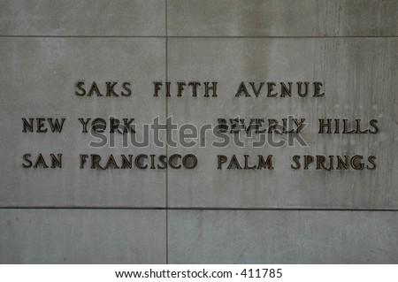Saks Fifth Avenue - stock photo