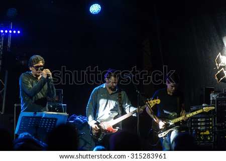 SALACGRIVA, LATVIA - July 31: Band 'Aurora' performs on stage during International music festival LABADABA, on July 31, 2015
