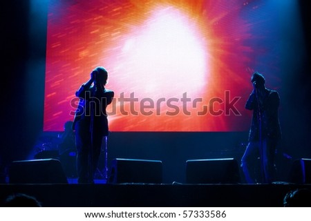 SALACGRIVA, LATVIA - JULY 16: Group UNKLE performs onstage at Positivus Festival 2010 July 16, 2010 in Salacgriva, LATVIA