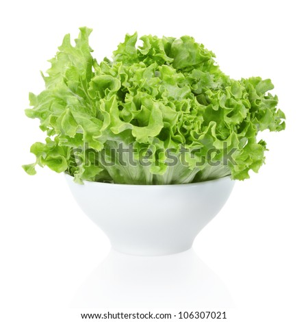 Salad bowl isolated on white, clipping path included - stock photo