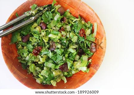salad bowl mixed - stock photo