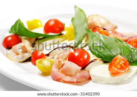 Salad - Cherry Tomato with Buffalo and Bacon