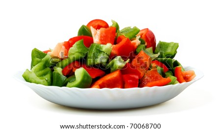 Salad from fresh pepper