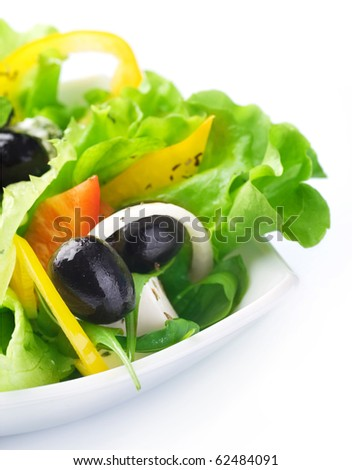 Salad.Healthy eating concept - stock photo