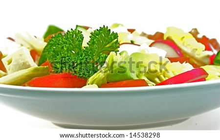 salad isolated over white.