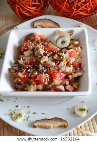 salad of asian mushrooms