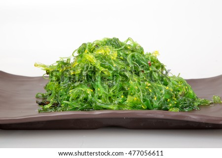 salad of wakame seaweed