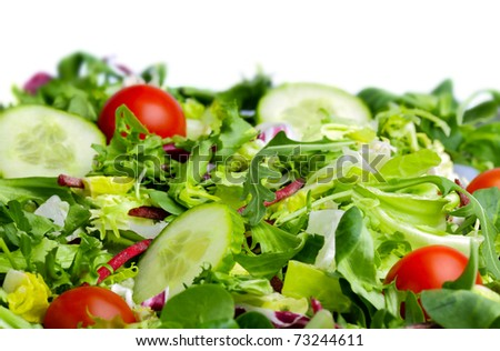 Salad  on white background - stock photo