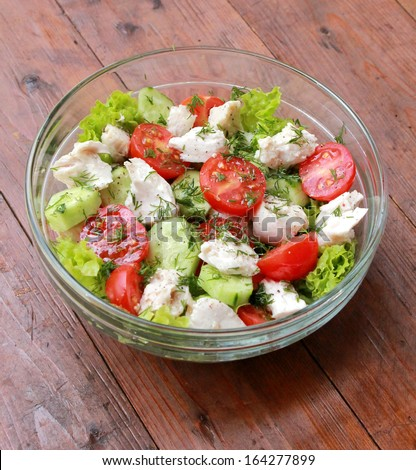 Salad over - stock photo