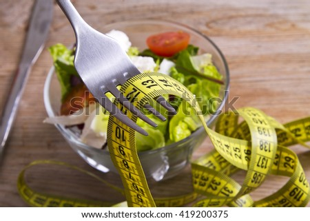 salad plate and tape