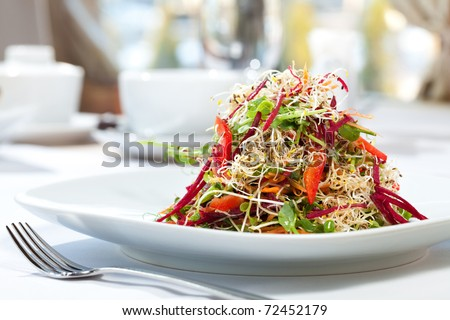 salad sprouts - stock photo