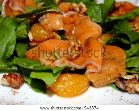 Salad with a red fish