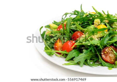 salad with arugula and tomatoes