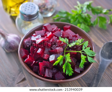 salad with beet - stock photo