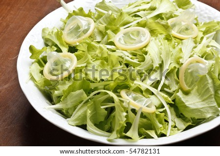 salad with condoms