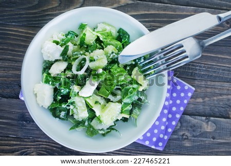 salad with feta cheese - stock photo
