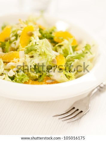 salad with orange