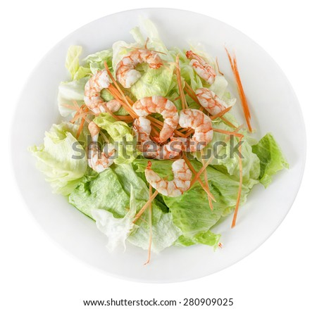 SALAD WITH SHRIMP - stock photo