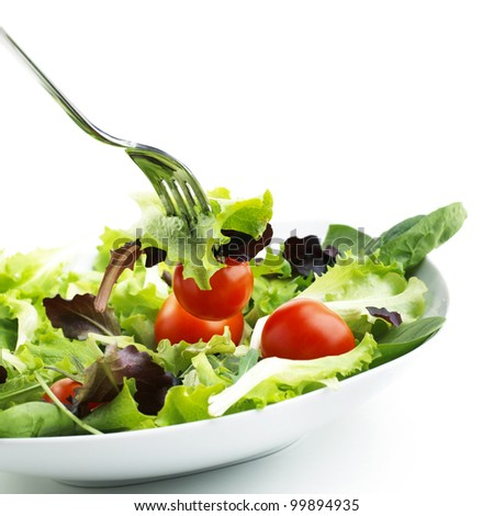Salad With Tomato. - stock photo